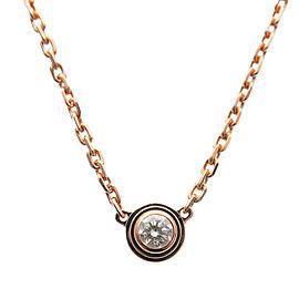 Auth Cartier Diamants Légers Necklace XS 1P Diamond 0.04ct K18PG Used F/S