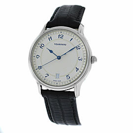 Authentic Men's Tourneau Classic 30020 A Steel Automatic Date 37MM Watch