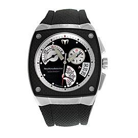 Authentic New Men's TechnoMarine KRA02 Carbon Steel Chrono Quartz 42MM Watch