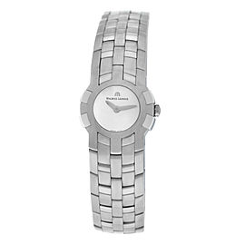 Ladies Maurice Lacroix Milestone IN1013-SS002-191 Steel $1300 Quartz 24MM Watch