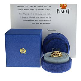 New Piaget Possession Hearts 18K Gold 16 grams Diamond Size 6.5 Rotating Ring