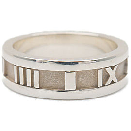 Authentic Tiffany&Co. Atlas Narrow Ring Silver 925 US6 HK12.5-13 EU51.5 Used F/S