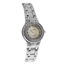 Ladies TechnoMarine Techno Lady DTLS MOP Diamond 29MM Steel Quartz Watch
