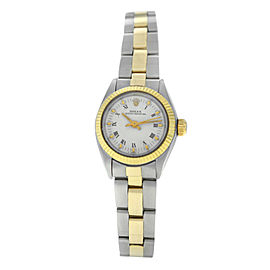 Ladies' Rolex Oyster Perpetual Date 6718 Steel 18K Gold Automatic 25MM Watch
