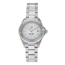 Ladies Tag Heuer Aquaracer WBD1411.BA0741 Steel Date MOP 300M Quartz 27MM Watch