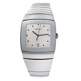 New Men's Rado Sintra R13719102 Ceramic 35MM Date Quartz $2,700 Watch