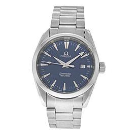 Unisex Midsize Omega Aqua Terra 2518.80 Stainless Steel 36MM Quartz Watch