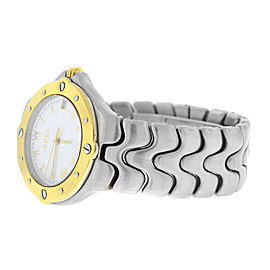 Unisex Ebel Sportwave E 6187631 Steel & 18K Gold Quartz 36MM Watch