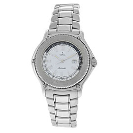 Mens Ebel Voyager 9124913 Steel 38MM Automatic Date Watch