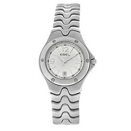 New Ladies' Ebel Sport Wave 9957K21 - 6611 Steel 28MM Quartz $2,350 Watch