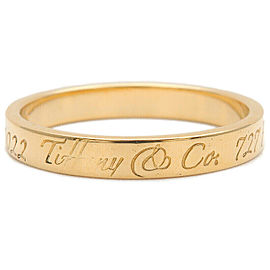 Auth Tiffany&Co. Notes Narrow New York Ring Yellow Gold US5.5 EU50.5 Used F/S