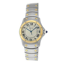 Mint Ladies Cartier Santos Ronde 1551 Steel 18K Yellow Gold Quartz 30MM Watch