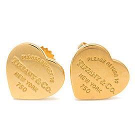 AuthTiffany&Co. Return To Tiffany Mini Heart Tag Earrings Yellow Gold Used F/S