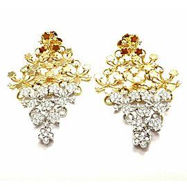 Pasquale Bruni 18k Yellow White Gold Diamond Flower Field Earrings