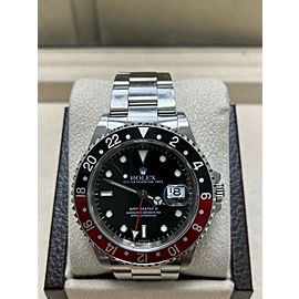 Rolex GMT Master II 16710 Coke Red and Black Stainless Steel Box Booklets
