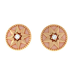 Christian Dior 18K Gold Pink Des Vents Diamond MOP Star Stud Earrings