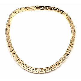 Cartier Maillon Panthere 18k Yellow Gold 7.20ct Diamond Necklace