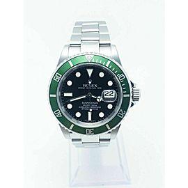 Rolex Submariner 16610LV Black Dial Green Bezel Kermit Stainless Steel 2006