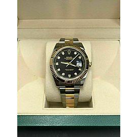 BRAND NEW Rolex Datejust 41 126333 Diamond Dial 18K Gold & Steel Box Paper 2019