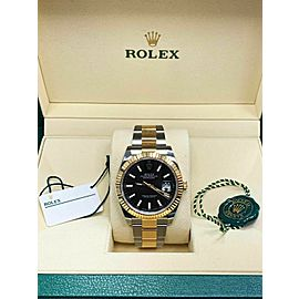 BRAND NEW 126333 Rolex Datejust 41 18K Yellow Gold & Steel Box & Papers 2018