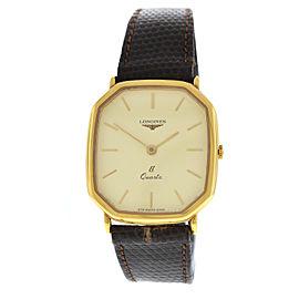 New Men's Longines Li Lithium Octagon Gold Plaque Steel Quartz 30mm Watch