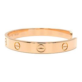 Authentic Cartier Love Bracelet Open Bangle 18K PG Size #17 Rose Gold Used F/S