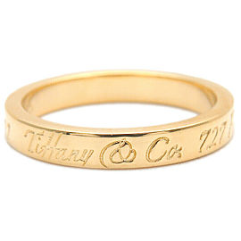 Auth Tiffany&Co. Notes Narrow New York Ring Yellow Gold US4 EU47 Used F/S
