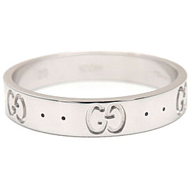 Authentic GUCCI ICON Ring K18WG 750 White Gold #20 US9-9.5 HK20.5 EU60 Used F/S