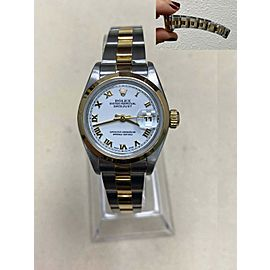 Rolex Ladies Datejust 79163 White Dial 18K Yellow Gold & Stainless Steel