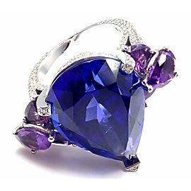 Chopard High Jewelry 18k Gold Diamond Tanzanite Amethyst Ring