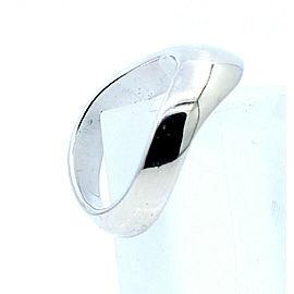 14k White Gold Free Form Ladies/Men ring Size 9