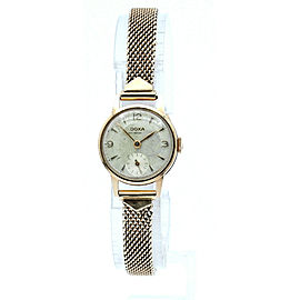 Vintage Doxa 14K Rose Gold Anti Magnetic Mechanical Ladies Watch