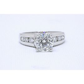 Leo Round Diamond Engagement Ring 2.10 tcw 14k White Gold $25,000 Retail