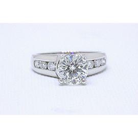 Leo Round Diamond Engagement Ring 2.10 tcw 14k White Gold $25,000 Retail
