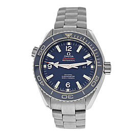 Omega Seamaster Planet Ocean 232.90.38.20.03.001 Co-Axial Midsize 37MM Ti Watch