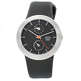 Unisex Ikepod Isopode Dualtime 9999 Limited Marc Newson Automatic Steel Watch