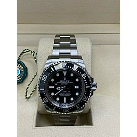 Rolex Sea Dweller Deepsea 126660 Black Ceramic Stainless Steel Box Papers 2018