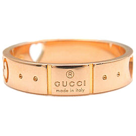 Authentic GUCCI ICON Amor Ring K18 PG 750 Rose Gold #9 US5 HK10.5 EU49 Used F/S