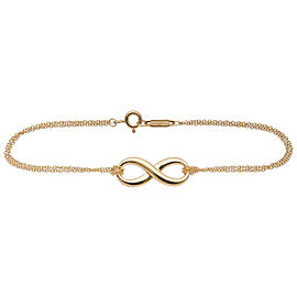 Authentic Tiffany&Co. Infinity Bracelet K18YG 750YG Yellow Gold Used F/S