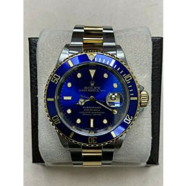 Rolex Submariner 16613 Blue Dial 18K Yellow Gold Stainless Steel