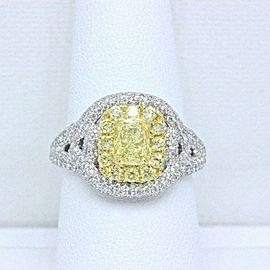 Fancy Intense Yellow Platinum Diamond Ring 2.33 ct $20K Retail