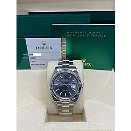 BRAND NEW Rolex Datejust 41 126334 Rhodium Dial Stainless Steel Box Papers