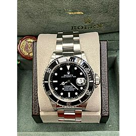 Rolex Submariner Date 16610 Black Dial Stainless Steel Box Papers