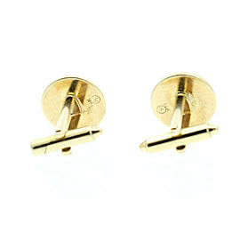 14K YELLOW GOLD ONYX ROUND FORMAL CUFF LINKS SET 3 STUDS
