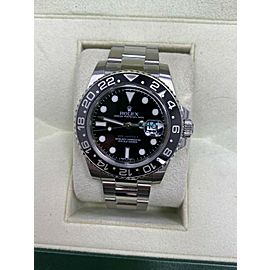 Rolex GMT Master II 116710LN Black Ceramic Stainless Steel Box Papers 2011