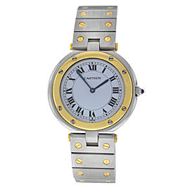 Authentic Ladies Cartier Santos Ronde 32MM 18K Yellow Gold Quartz Watch