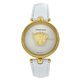 New Versace Palazzo Empire VECQ00218 Steel Gold Electroplated Quartz 34MM Watch