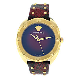 New Ladies' Versace Shadov VEBM00918 Gold Electroplated Quartz 38MM Watch