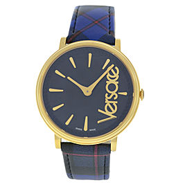 New Ladies Versace VE8100218 Stainless Steel Gold Quartz 38MM Watch