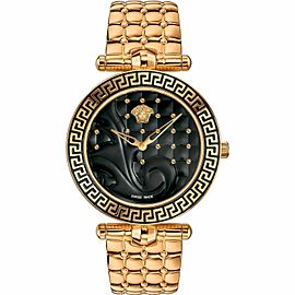 New Ladies' Versace Vanitas VK7250015 Rose Gold Steel Quartz 40MM Watch
